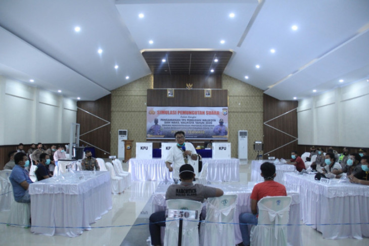 Polres Ternate gelar simulasi pengamanan TPS Pilkada 2020