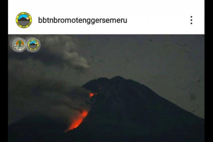 Gunung Semeru kembali keluarkan lava pijar
