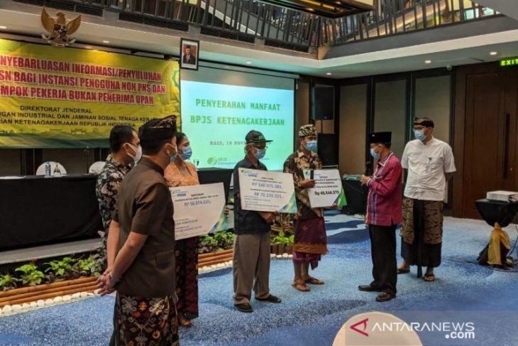 BPJAMSOSTEK Denpasar serahkan klaim jaminan tiga ahli waris