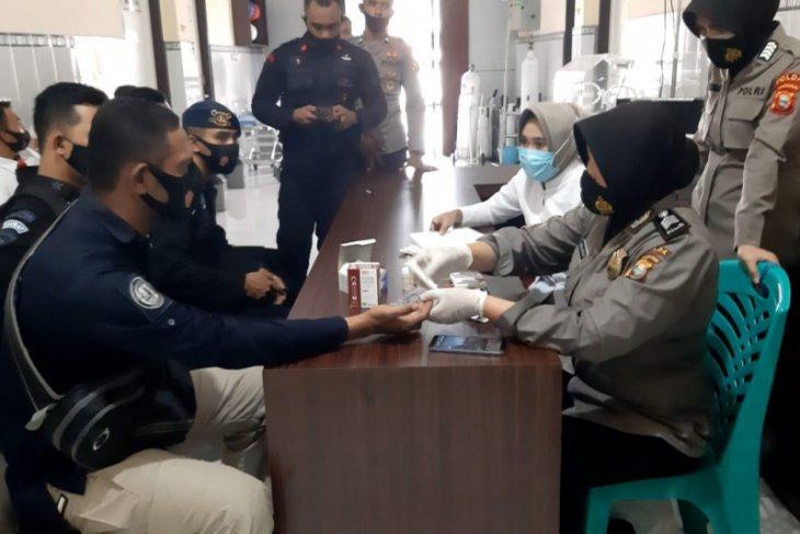 Polda Malut gelar pemeriksaan kesehatan personel PAM TPS