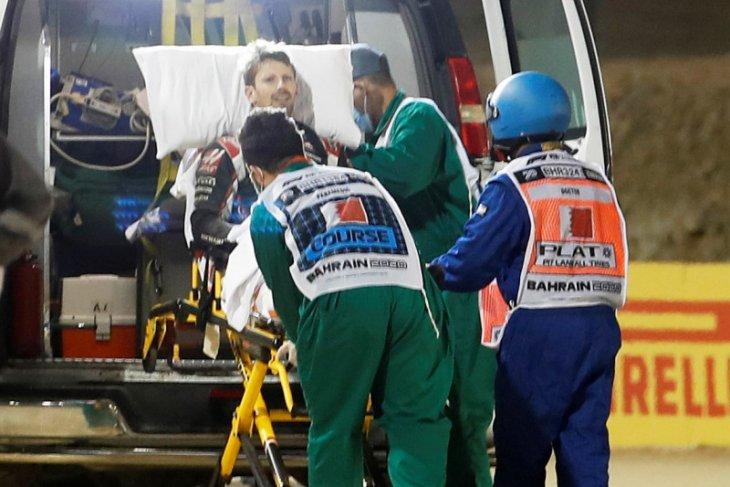 Formula 1: Grosjean ungkap halo selamatkan dirinya dari kecelakaan maut di Bahrain