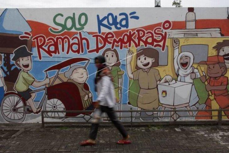 Mural sosialisasi pilkada