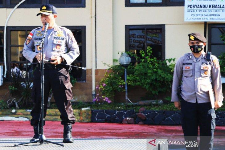 Kapolresta Banjarmasin minta personel perketat pegamanan TPS saat Pilkada