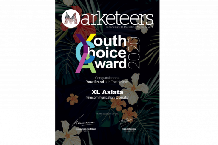 XL Axiata raih Marketeers Youth Choice Brand of The Year 2020