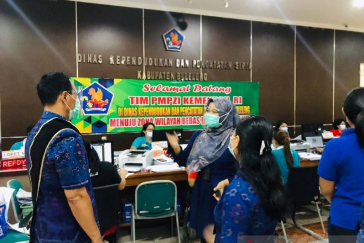 Kemenpan beri penilaian Wilayah Bebas Korupsi di Disdukcapil Buleleng