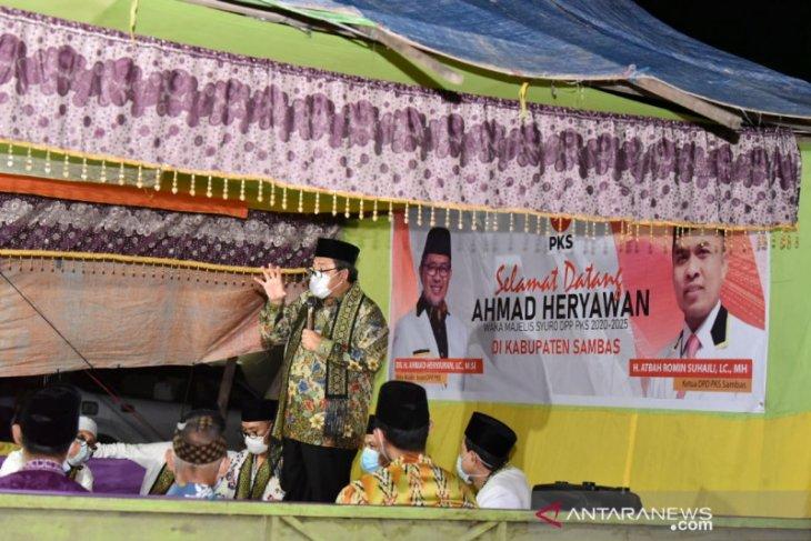 Ahmad Heryawan safari kemenangan Pilkada di Sambas