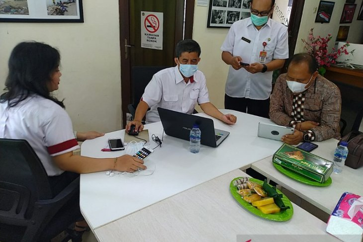 Kepala Dinas Kominfo Jembrana kunjungi LKBN ANTARA Biro Bali (+Elnusa Petrofin+BNI)