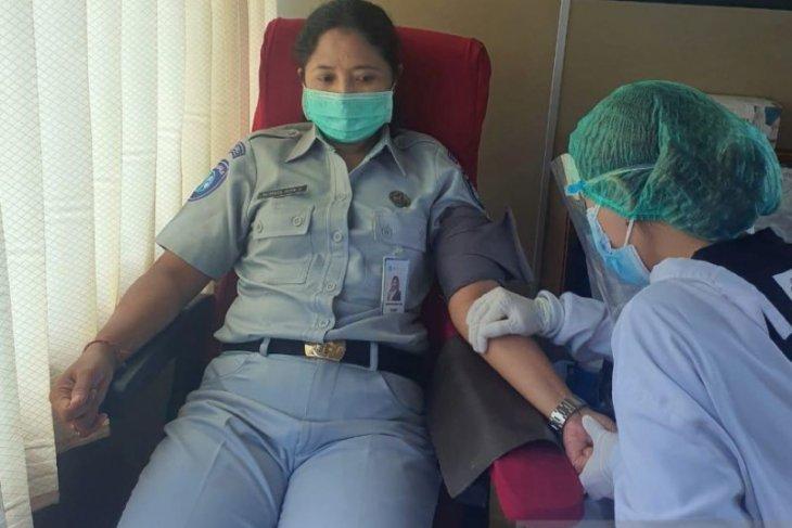 Gelar donor darah, Jasa Raharja Bali targetkan himpun 100 kantong darah