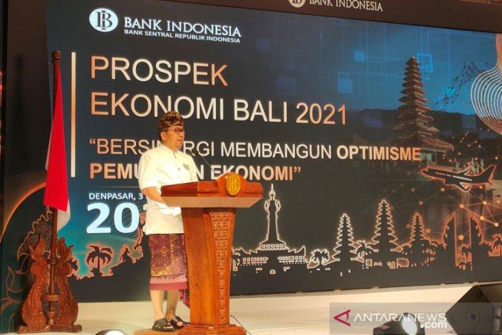 BI: Pertumbuhan ekonomi Bali 2021 di kisaran 4,5 - 5,5 persen