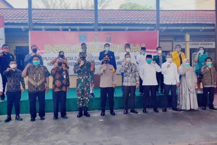Forkopimda dan pasangan Cabup Paser deklarasikan Pilkada damai