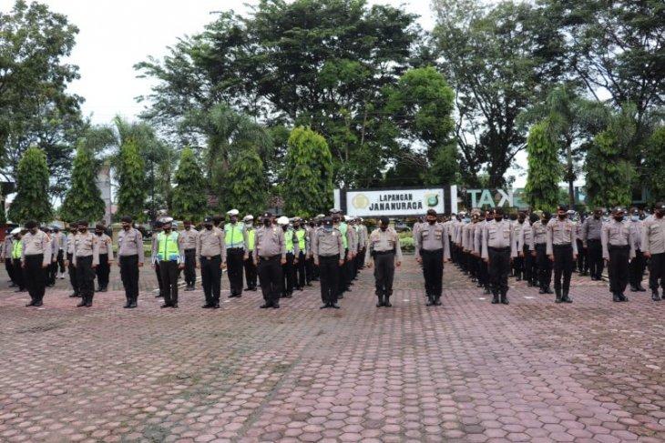267 personel Polres Langkat amankan pilkada Samosir, Labuhanbatu dan Asahan