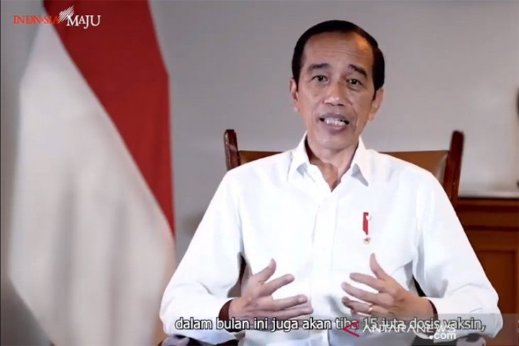 Jokowi administered first COVID-19 vaccine shot at Merdeka Palace