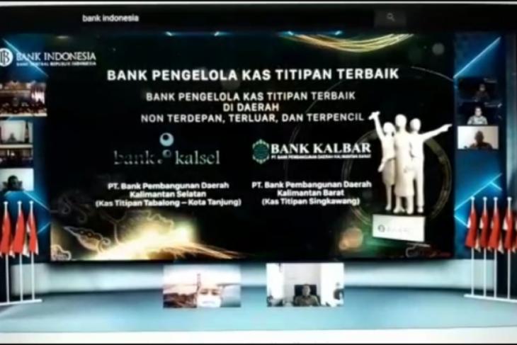 Bank Kalbar Cabang Singkawang terima penghargaan kas titipan terbaik