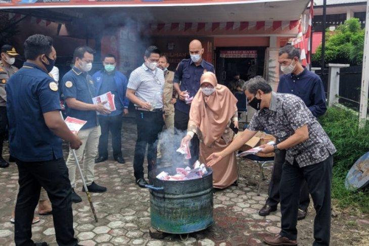 KPUD Medan musnahkan 5.312 surat suara rusak