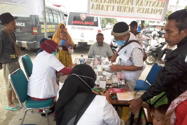 Korban banjir di Aceh Utara keluhkan gatal- gatal dan ISPA