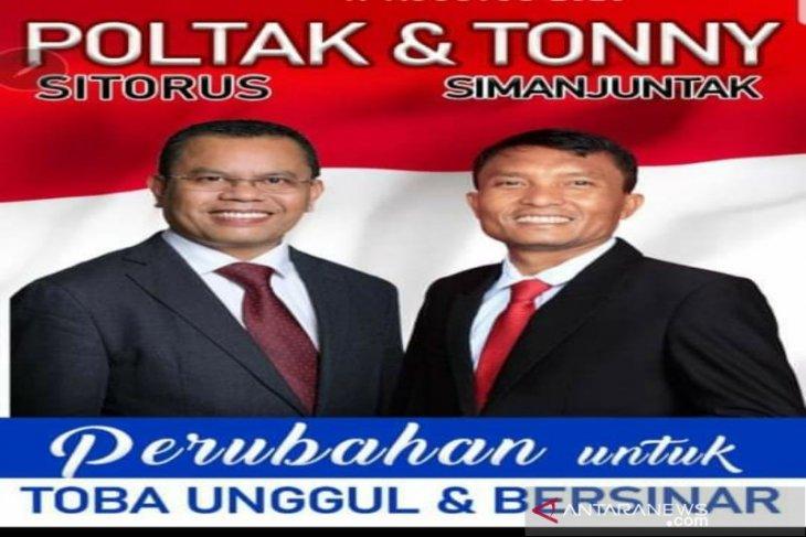 Poltak-Tonny pimpin perolehan suara pilkada Toba versi KPU