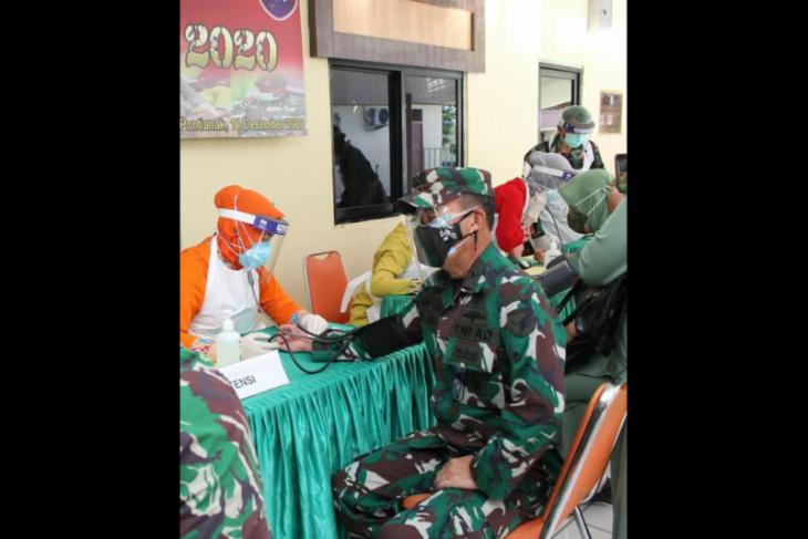 Kodam XII/TPR sambut Hari Juang TNI AD dengan donor darah