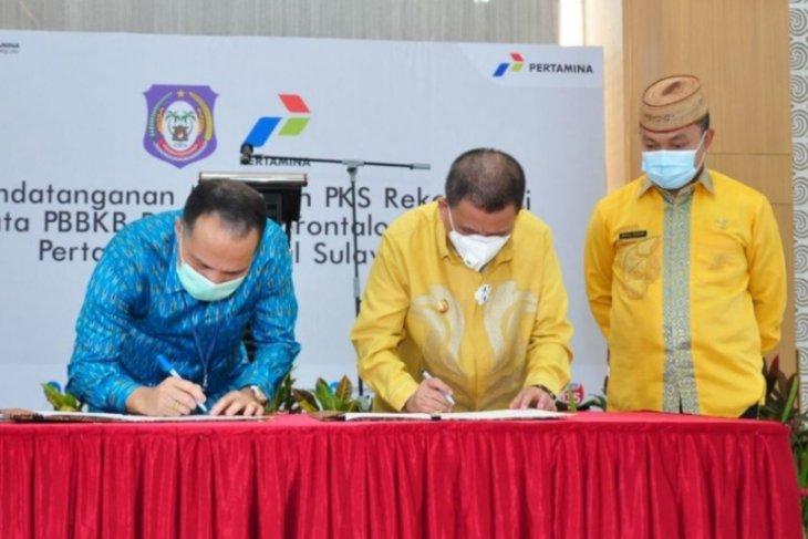 Pemprov Gorontalo dan Pertamina tandatangani kerja sama data PBBKB