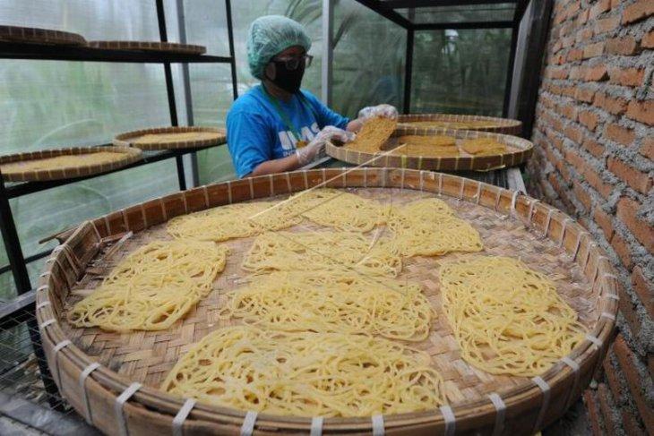 Produksi mi berbahan tepung singkong