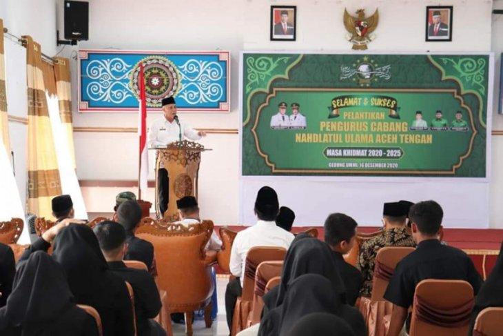 Pengurus Cabang NU Aceh Tengah dilantik, ini pesan Bupati Shabela