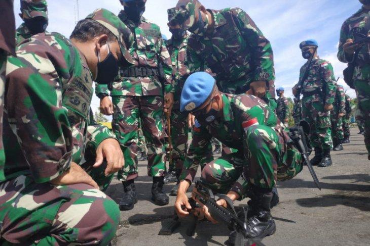486 prajurit Raider Khusus 644/Walet Sakti diberangkatkan ke Negara Kongo