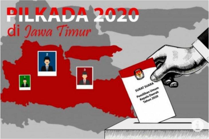 Hasil 19 pilkada di Jatim, berikut pasangan calon peraih suara terbanyak