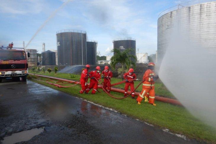 Pertamina RU VII Kasim Sorong mengadakan simulasi keadaan darurat