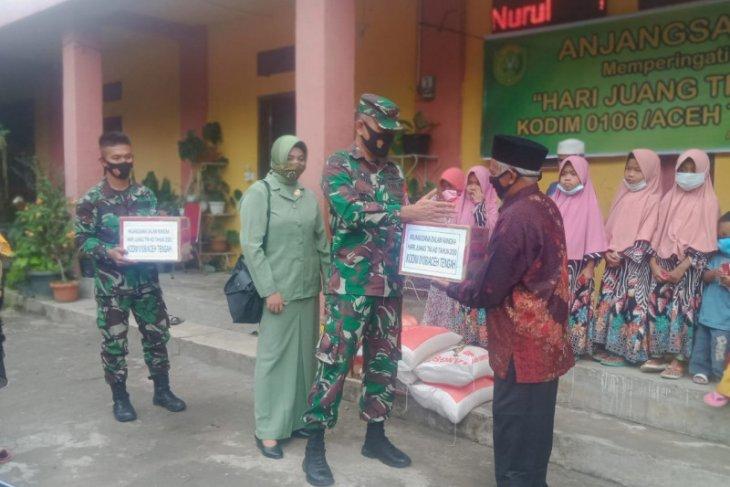Kodim Aceh Tengah santuni anak yatim di panti asuhan