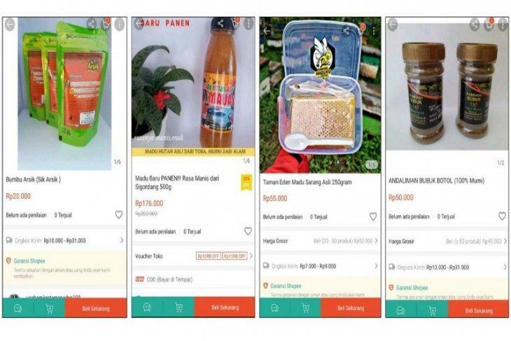 Produk UMKM binaan Toba Pulp Lestari sudah dijual secara  daring