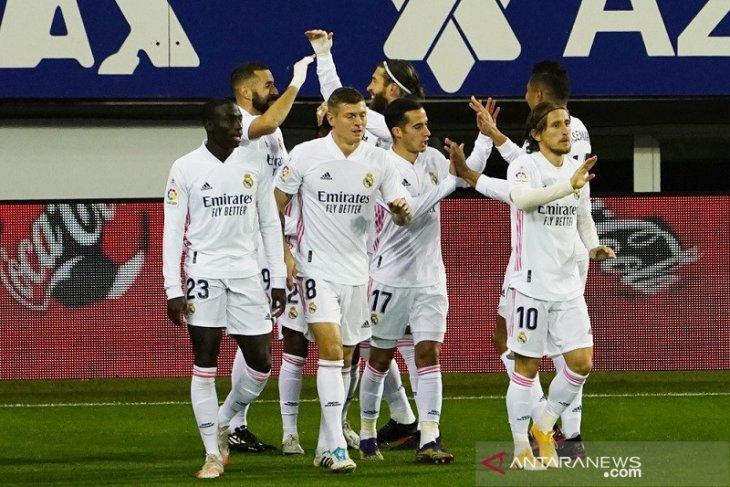 Klasemen Liga Spanyol: Real Madrid tempel ketat Atletico di puncak