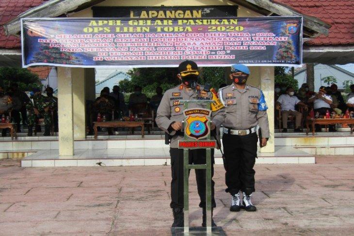 Kapolres Binjai pimpin apel pasukan Operasi Lilin Toba 2020