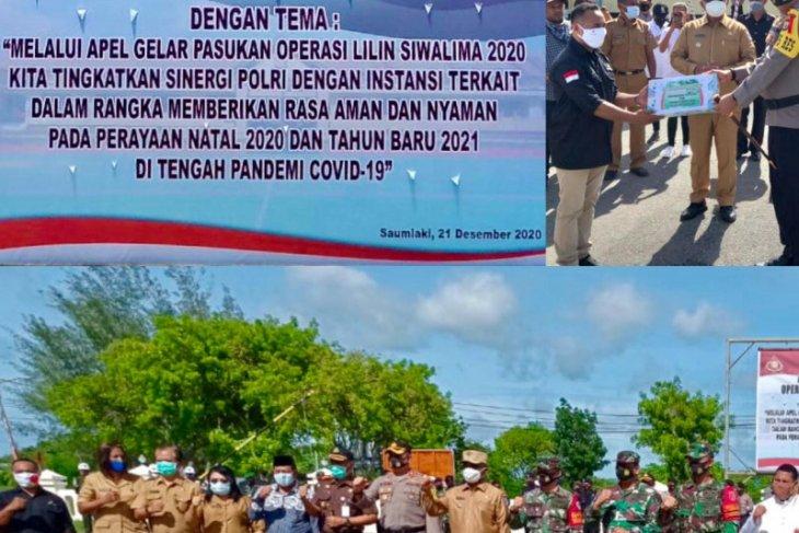 Pekerja hulu migas mendukung Operasi Lilin Polres Tanimbar