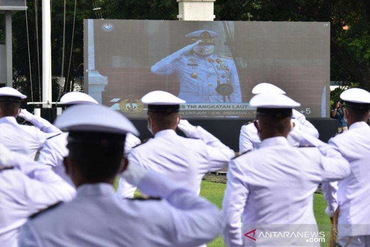 Kasal Lantik 331 Perwira Remaja TNI AL lulusan Diktukpa secara virtual