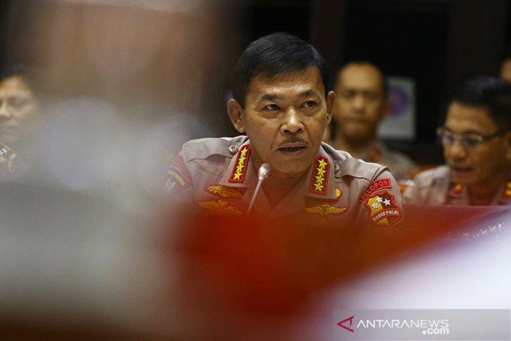 Kapolri Idham Aziz surati Presiden soal pengganti dirinya