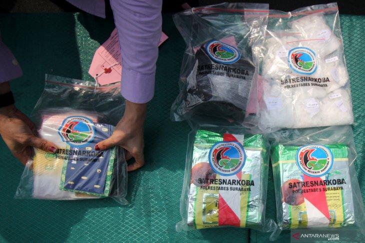 Polrestabes Surabaya awasi 15 titik sasaran peredaran narkoba jelang tahun baru