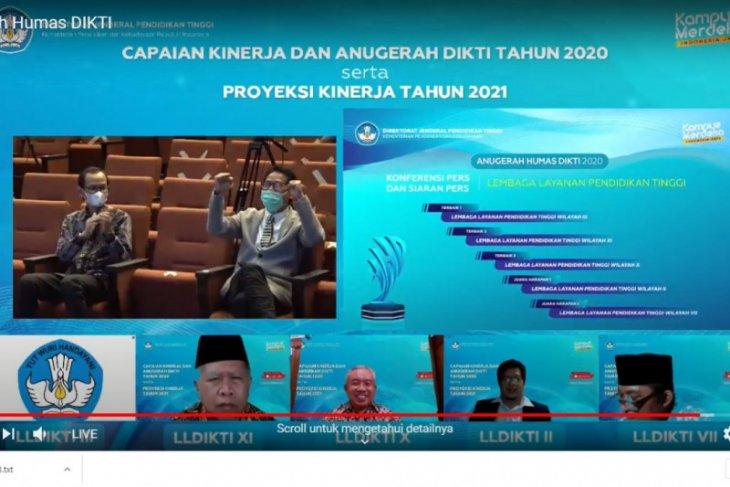 LLDIKTI Wilayah XI sabet dua penghargaan pada Anugerah DIKTI 2020