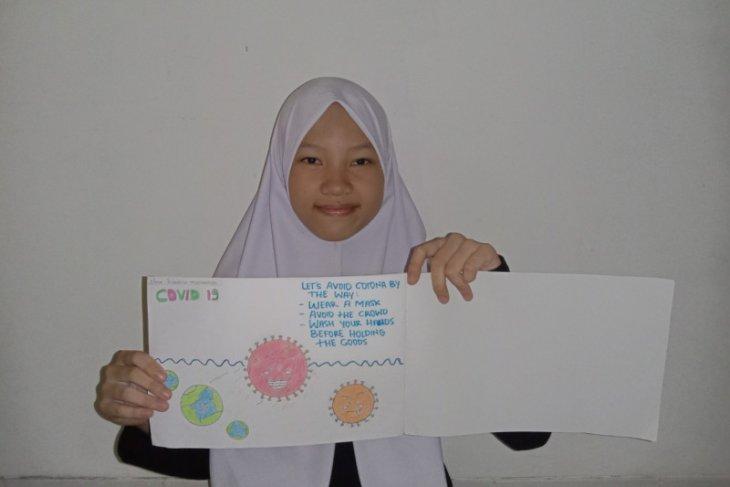 Pelajar Jambi buat poster ajak masyarakat cegah COVID-19