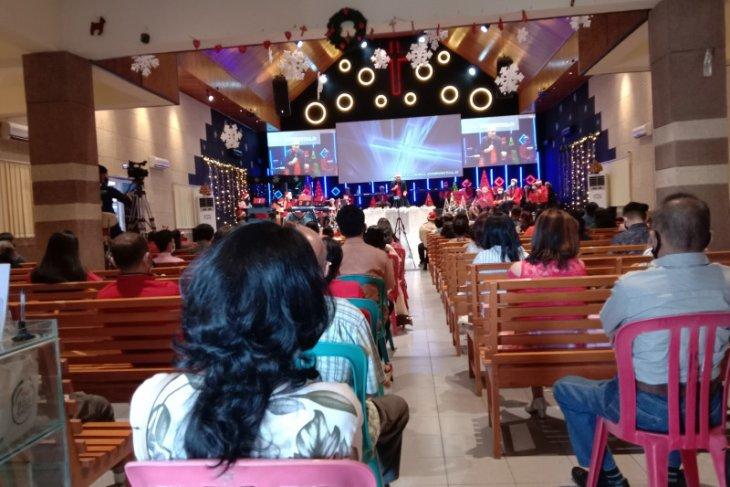 Gereja di Gorontalo terapkan protokol kesehatan ketat di kebaktian Natal
