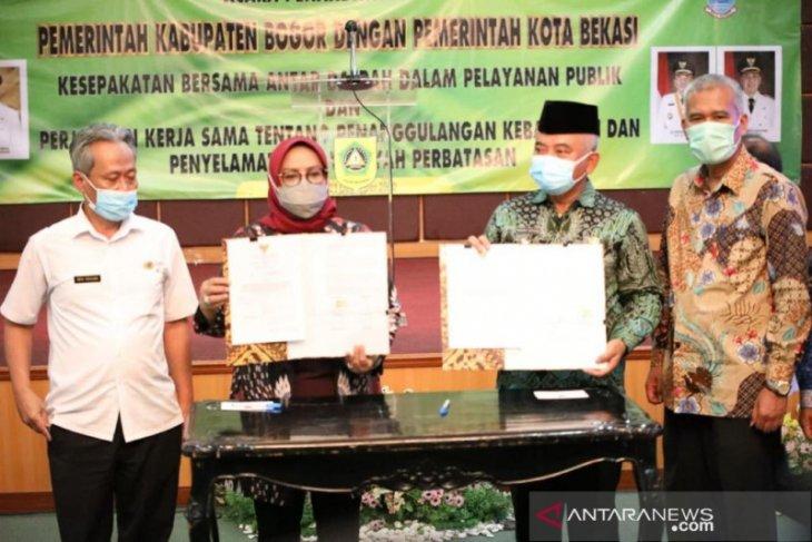 Kabupaten Bogor-Kota Bekasi kerja sama tanggulangi bencana