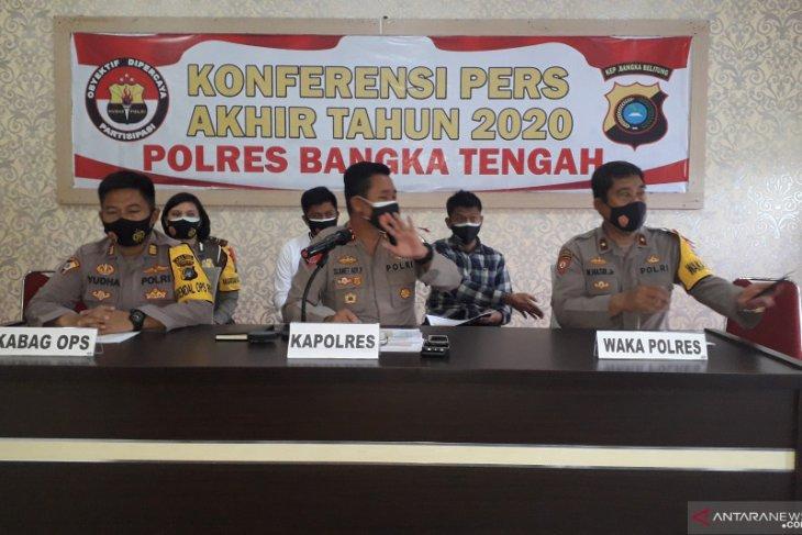 Polres Bangka Tengah beri sanksi pelanggar prokes COVID-19