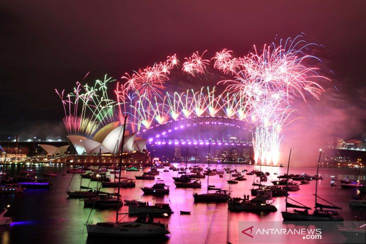 Australia sambut tahun 2021 dengan perayaan tidak seperti biasa