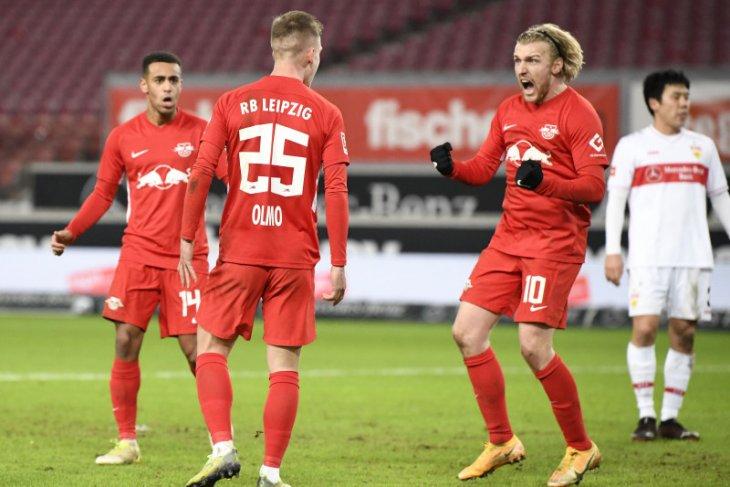 Gol semata wayang Olmo bawa Leipzig rebut puncak klasemen di Liga Jerman