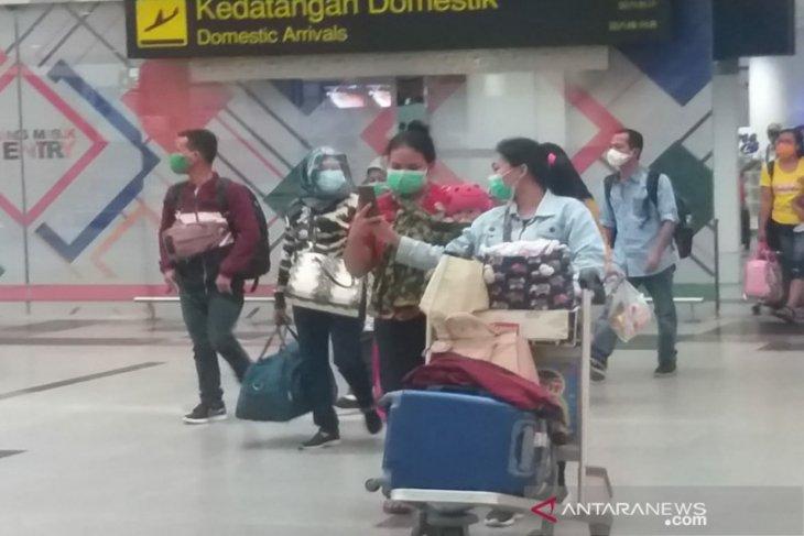 Penumpang balik liburan Tahun Baru 2021 di Bandara Kualanamu 9.271 orang
