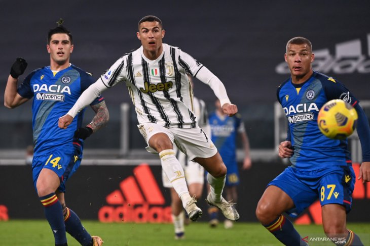 Juventus menang 4-1 atas Udinese, Ronaldo dua gol