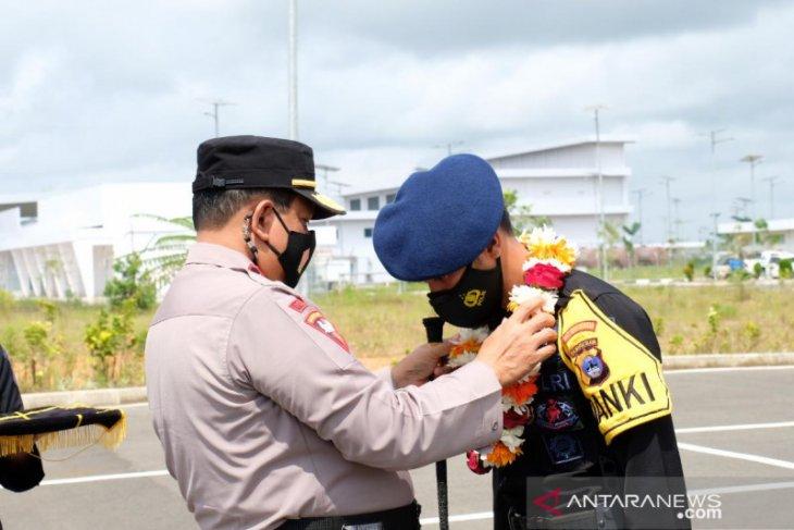 100 anggota Brimob Polda Kalsel kembali usai tugas kamtibmas di Jakarta