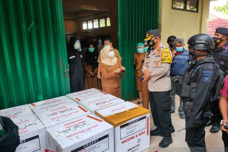Polda Maluku kawal 15.120 vial vaksin COVID -19