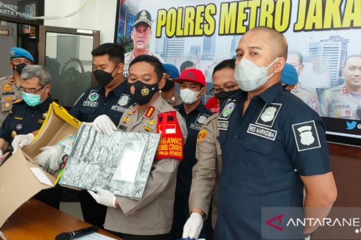 Jakarta police seize 122.2-gram cocaine package from Germany