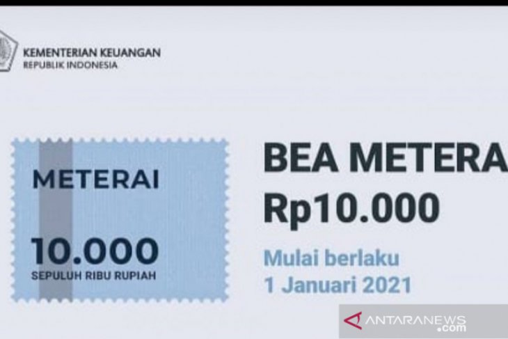 Materai Rp10.000 sudah berlaku dan ini nasib materai lama