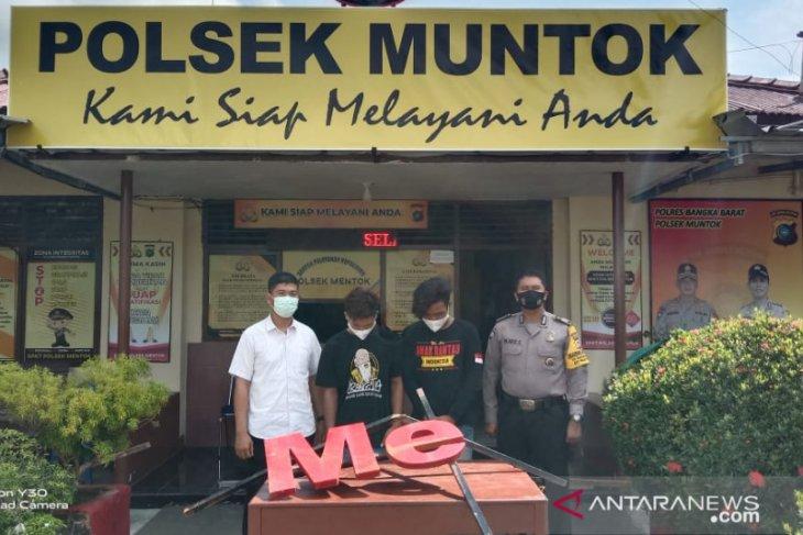 Polisi ringkus dua pemuda diduga perusak fasilitas wisata di Bangka Barat