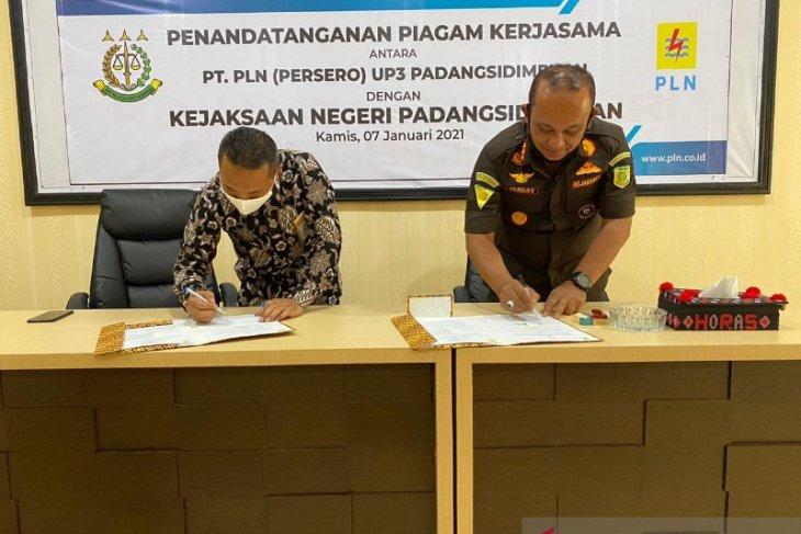 PLN tandatangani kerja sama dengan Kejaksaan Padangsidimpuan
